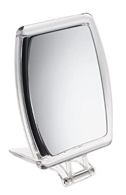 Rectangle Perspex Travel Mirror x 10 magnification - 15cm produced by Fancy Metal Goods Ltd - quick delivery from UK.