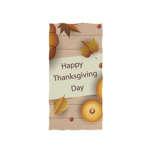FANTAZIO Premium Baumwoll-Handtuch Thanksgiving Thankfulness Luxus Baumwolle Waschlappen
