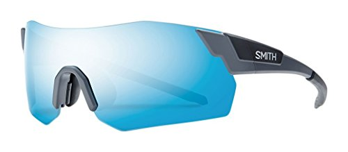 Smith Pivlock Arena Max/N - Gafas de sol de rendimiento, para hombre, Pivlock Arena Max/N, Matte Solid Grey/Blue Mirror + Ignitor + Transparent
