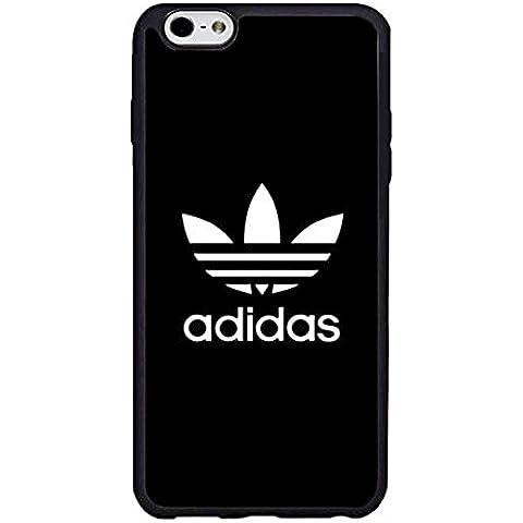 Diseño de Adidas para iPhone 6s Plus funda, logotipo de anti-polvo lujo duro [plástico duro] para iPhone 6 6s protectora Plus (13,97
