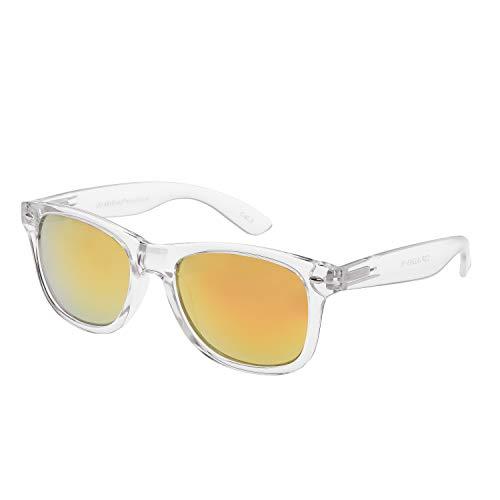Ultra Erwachsene Klassische Klare Rahmen Rosa Gespiegelt Linsen Sonnenbrille Unisex Retro Gläser UV400 Männer Frauen Vintage Mode Schutzbrille