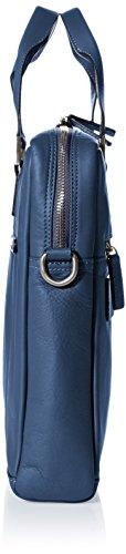 Bugatti Bags Manhattan 49111105 Unisex-Erwachsene Schultertaschen 40x29x11 cm (B x H x T) Blau (blau 05)