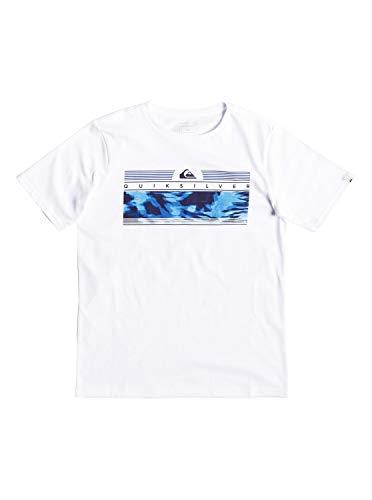 Quiksilver Jungen The Jungle T-Shirt, White, L/14 - Quiksilver-jungen Kleidung