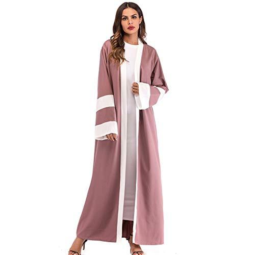 TWIFER Streifen Robe Damen Ethnische Roben Abaya Islamischer Muslim Mittlerer Osten Maxi Kleid Verband ()