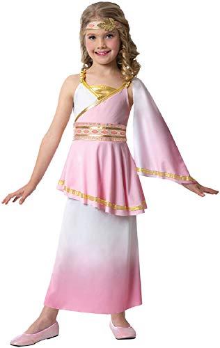 (Fancy Me Mädchen Rosa Regal Cleopatra Ägyptische Königin Pharao Geschichte Historisches Weltbuch Tag Woche Karneval Kostüm Outfit)