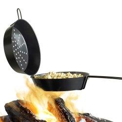 Barbecook Poêle à pop corn pour braséro/barbecue, Acier Noir 29 x 62 x 12,5 cm