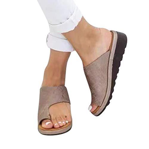 ttform Sandale Schuhe Mit Bunion Splints, Damen Sommer Strand Reise Schuhe Big Toe Hallux Valgus Unterstützung Plattform Sandale Schuhe Für Bunion Correct ()