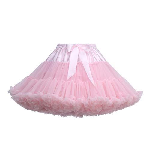 SEWORLD Damen Tutu Abendkleider Schöne Frauen Damenrock Mädchen Tüllrock Kurz Ballet Tanzkleid Unterkleid Cosplay Crinoline Petticoat für Rockabilly Kleid P