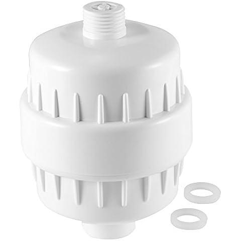 XCSOURCE® Grifo de Agua de la Cabeza de Ducha Filtro de Cartucho de Carbono Limpiador de Agua de Tap Eliminación de Purificador de Cloro Blanco