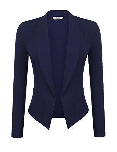 SoTeer Womens Spring Elegant One Button Office Blazer 3 4 Sleeve Shawl Solid Suit Jacket S-XXL