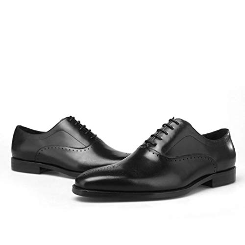 Zxcvb Mens Double Monk Strap Schlupf auf Loafer Cap Toe Leder Oxford Formale Business Casual Bequeme Bequeme Schuhe für Männer schwarz braun (Farbe : Schwarz, Größe : 39 EU) Cap Toe Loafer
