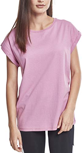 Urban Classics ErwachsenDamen Ladies Extended Shoulder Tee T-Shirt, coolpink, S