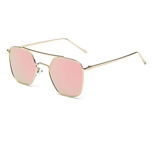 Junecat Frauen Retro Designer-Metallrahmen-Sonnenbrille Farbton-Gläser Brillen