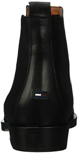 Hilfiger Denim G1385ames 2a, Stivali Bassi con Imbottitura Leggera Donna Nero (Nero (black 990))