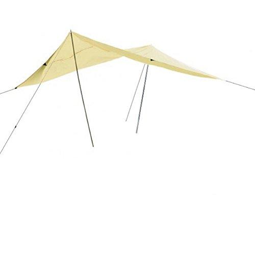 campersten Sonnensegel 400x600cm | wasserdicht | rechteckig | Garten | mit Gestell
