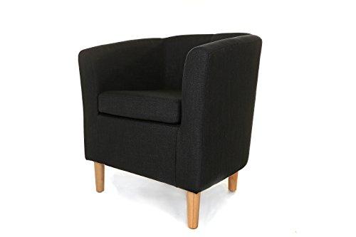 Fabric Tub Chair Crib 5 Compliant (BLACK)