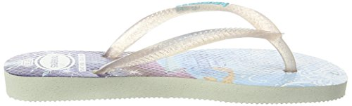 Havaianas Slim Princess, Tongs Fille Blanc (white 0001)