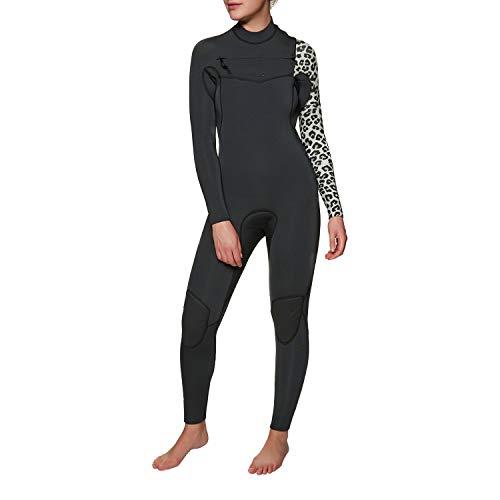 BILLABONG 2018 19 Womens Furnace Comp 5 4mm Chest Zip Wetsuit Black Sands  L45G15 841515ba097