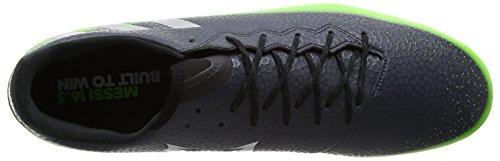 adidas Messi 16.3 Fg, Scarpe da Calcio Uomo Grigio (Dark Grey/Silver Met./Solar Green)