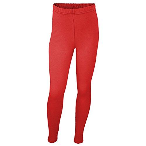 TupTam Mädchen Leggings Lang Blickdicht Baumwolle , Farbe  Rot, Größe  128 10db696701