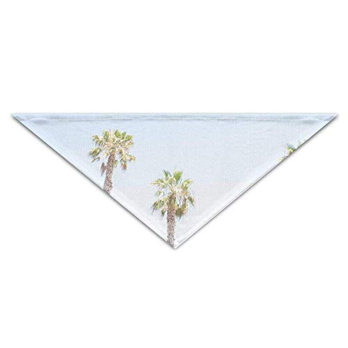Pet Scarf, Summer Palm Trees Dog Bandanas Scarves Triangle Bibs Scarfs Cute Basic Neckerchief Cat Collars Pet Costume Accessory Kerchief Holiday Birthday Gift