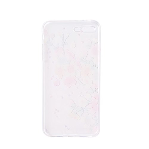 Pour iPhone 7 (4,7 zoll) Case Cover, Ecoway TPU Clear Soft Silicone Back Dream Rose Housse en silicone Housse de protection Housse pour téléphone portable pour iPhone 7 (4,7 zoll) - Dream Rose fleurs de cerisier
