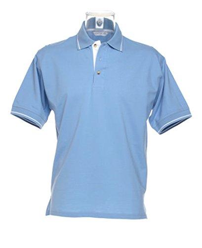 Kustom Kit St Mellion Polo Light Blue/ White