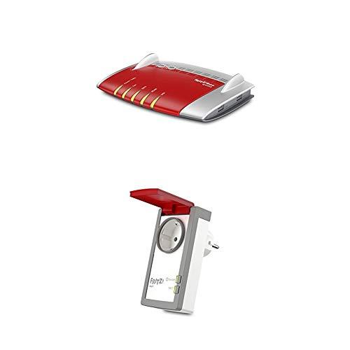 AVM FRITZ!Box 6490 Cable WLAN AC + N Router + DECT 210 (intelligente Steckdose für Smart Home, mit Spritzwasserschutz (IP 44) für Einsatz im Außenbereich)