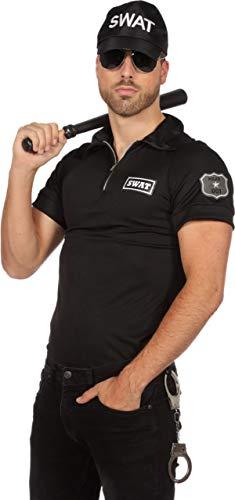 Swat Kostüm Spezialeinheit - Wilbers SWAT Shirt Kostüm Herren S.W.A.T. Spezialeinheit Polizei Polizeikostüm Karneval Schwarz 52
