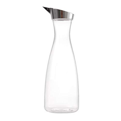 1.6 L Botella de jugo transparente de acrílico Botella de jugo transparente Jarro de agua Jarra de jugo con tapa con tapas herméticas para vinagre de aceite Bebidas