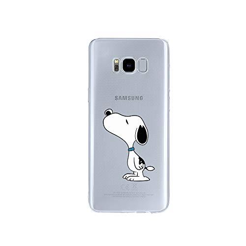 licaso Samsung Galaxy S8 Handyhülle TPU mit Dog Sniffing Print Motiv - Transparent Cover Schutz Hülle H& Schnüffeln Aufdruck Druck