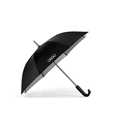 Preisvergleich Produktbild Audi 3121500300 Original Stockschirm Regenschirm Schirm klein, schwarz / titan 100 cm