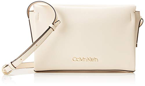 Calvin Klein Avant Ew Crossbody - Borse a tracolla Donna, Grigio (Light Sand), 5x16x25 cm (B x H T)