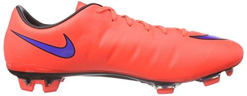 Nike Mercurial Veloce Ii Fg, Chaussures de Football Compétition Homme multicolore (Bright Crimson/Prsn Violet-Blk 650)