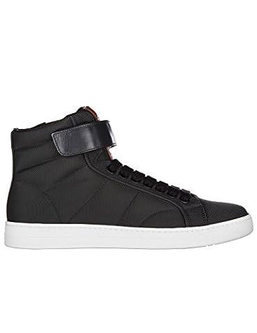 Prada Sport Herren 4T3024oq6f0002-Mc Schwarz Stoff Hi Top Sneakers (Prada Stoff)