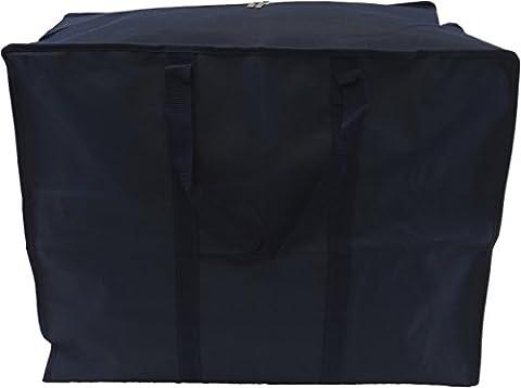 Neusu Grand sac de rangement pour vêtements–Heavy Duty 600d Polyester Matériau 360° avec Web Poignées renforcées–polyvalente: Vêtements, literie, couettes, oreillers, pour le rangement ou de voyage, bleu