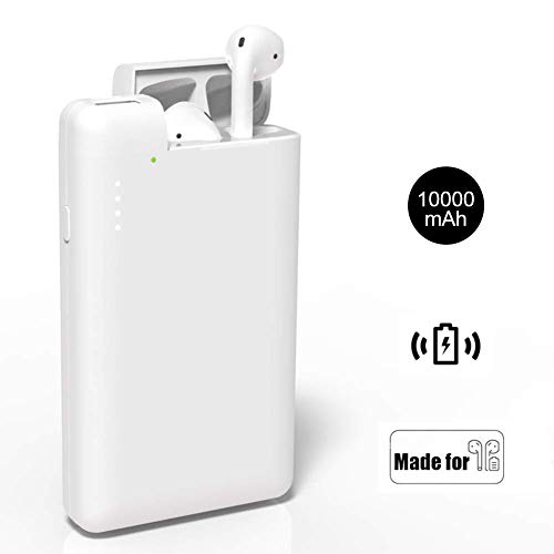 Lenture 10000mAh Power Bank con Custodia di Ricarica per Airpod, Caricabatterie Portatile Batteria Esterna, Compatibile con AirPod 1 2, iPhone XS XR X 8 Plus 8 e Samsung Galaxy S9 S8