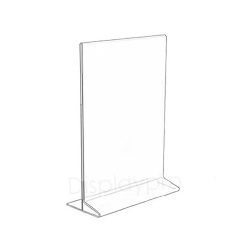 10 A6 Portrait Two Sided Acrylic Perspex Menu Sign Display Holder Counter Stand