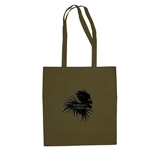Planet Nerd Shinigami is Coming - Stofftasche/Beutel, Farbe: oliv