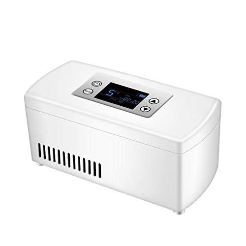Tragbare Insulin Kühl Box,Medizin Kühlschrank Kühler,akku LCD-Display 2-8℃ Auto Insulinkühler Medizin Mini Kühlschrank-weiß