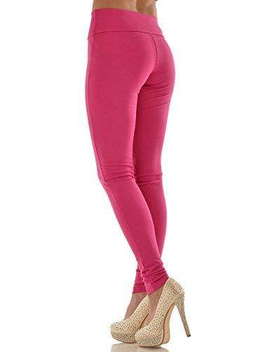 FL-GI Leggy Tone einfarbige Leggings pink hoher Bund (Elastischen Bund Gi)