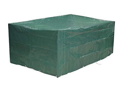 Kronenburg Schutzhülle für Tisch Stühle Sitzgruppen Sitzgarnituren Abdeckhaube, Grün, 242 x 162 x 100 cm - weitere Schutzhüllen wählbar