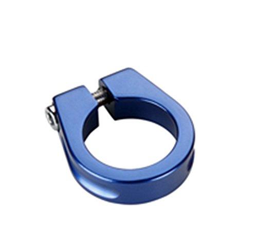 Schelle-Verschluss Blau aus Aluminium für Sattelstütze und Rahmen, 31,8mm Fahrrad 3684 - Klemme Sattelstütze Blau