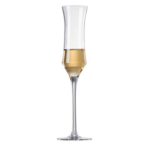 Verres à vin Maison Tasses À Champagne en Cristal Mousseux Gobelet 4 Ensembles De Cadeaux De Vin (Color : Clear, Size : 5 * 6.5 * 25.4cm)