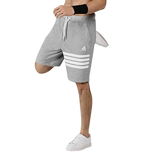 Adidas Gym Shorts (Extreme Pop Herren Sport Shorts Rugby Kurze Hosen (XL, Grey))