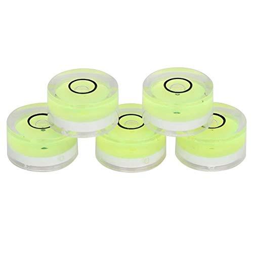 5 Stücke Wasserwaage 15mm Durchmesser, Mini Universal Tragbare Rahmen Wasserwaage Bullseye Runde Kreis Circular Balance Kompass für Balance, Elektronische Waage, Kamera Plattform, Etc -