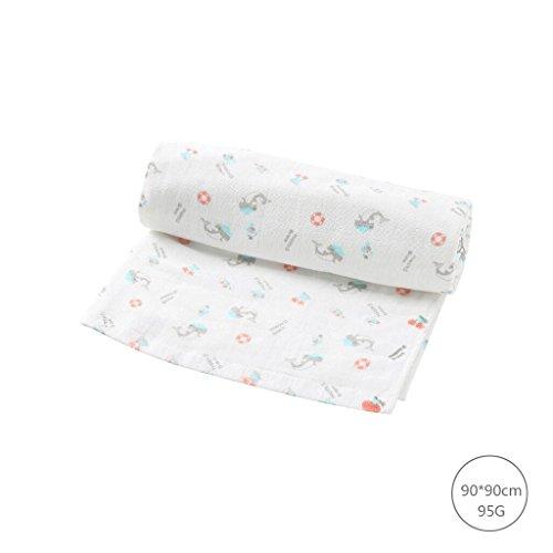Unbekannt Reine Baumwolle Baby Badetuch Bambusfaser Fiber großes Handtuch weiche atmungsaktive Baby Handtuch Quilt Badetücher -