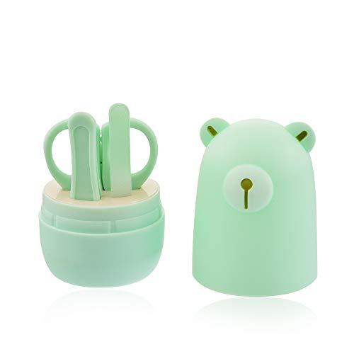 MeineBeauty Baby Nagelpflege Set 4-teiliges Nagelknipser Nagelschere Nagelfeile Pinzette Maniküre-Set für Neugeborene Kleinkinder Geschenk - 6