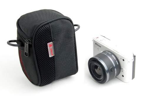 Soft Nylon Schulter Taille Brücke/Compact System Kamera Tasche Halter für Sony Cyber-Shot DSC RX100RX1HX50H200HX50QX10QX100RX100A7S RX1R RX100II QX30RX100III ilce-qx1hx90V hx90wx500; Sony Alpha NEX-3N NEX-5T NEX-6NEX-7NEX-3N Cyber-shot Soft Case