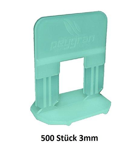 Lengüetas, sistema de nivelación peygran 3mm Turquesa 500unidades